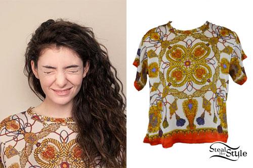 Lorde: Baroque Rope Print Tee