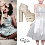 Melanie Martinez: Silver Crop Top & Skirt