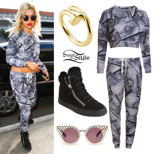 Rita Ora: Credit Card Sweater & Pants