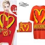 Rita Ora: Moschino McDonalds Dress & Bag