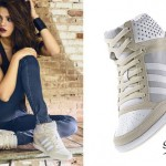 Selena Gomez: Beige High Top Sneakers