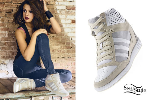 casual shoes classic shoes cute Selena Gomez: Adidas NEO Spring 2014 | Steal Her Style