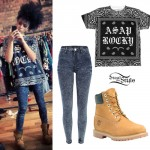 Shereen Cutkelvin: Bandana Tee, Acid Jeans