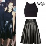 Sierra Kusterbeck: Pleated Leather Skirt