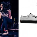 Tay Jardine: White & Black Vans Sneakers