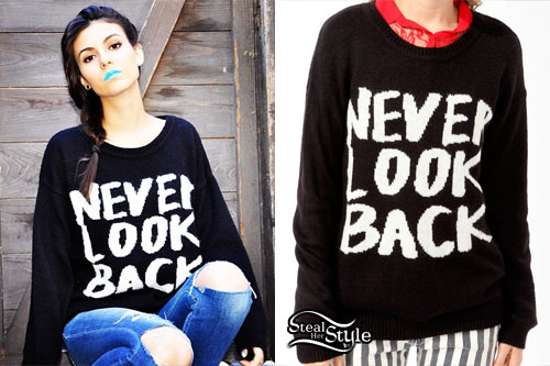 Victoria Justice: Never Look Back Sweater