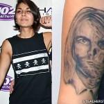 Yasmine Yousaf Kurt Cobain tattoo