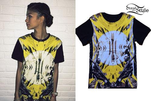 Zendaya: Africa Print T-Shirt