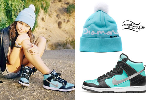 Zendaya: Diamond Supply Hat & Sneakers