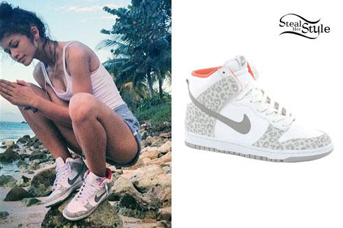 Zendaya: Leopard Nike Sneakers
