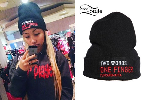 Zonnique Pullins: Middle Finger Beanie