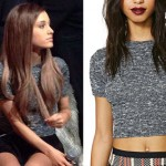 Ariana Grande: Black & White Speckled Tee