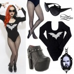 Ash Costello: Bat Bodysuit, Harness Booties