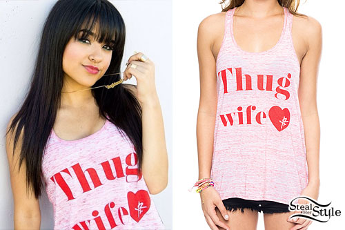 Becky G: Pink 'Thug Wife' Tank Top