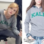 Bella Thorne: Gray Kale Sweatshirt