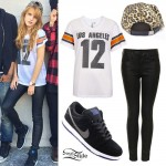 Bella Thorne: Number 12 Jersey, Hi Top Sneakers