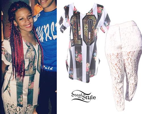 Breaunna Womack: Stripe Jersey, Lace Pants