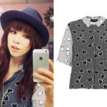 Carly Rae Jepsen: Black & White Heart Blouse