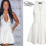 Cassie: Zip Front White Dress