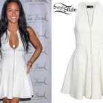 Cassie: Zip Front White Dress