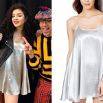Charli XCX: Silver Swing Dress