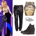 Cher Lloyd: Egypt Crop Top, Sequin Joggers