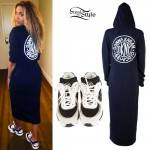 Ciara: DKNY Dress, Chanel Sneakers