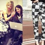 Ellie Goulding: Checkerboard Print Pants