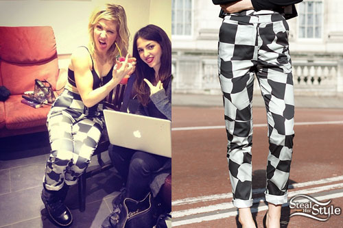 Ellie Goulding: Checkerboard Print Pants
