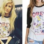 Ellie Goulding: OBEY Raglan Tee