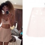 Foxes: Light Pink Patent Leather Skirt
