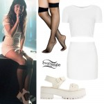 Foxes: White Crop Top & Skirt