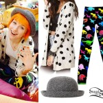Hayley Williams: Bowler Hat, Dinosaur Leggings