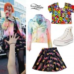 Hayley Williams: Tie Dye Jacket, Spice Skirt