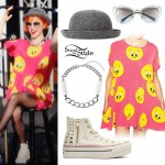 Hayley Williams: Tweety Bird Dress