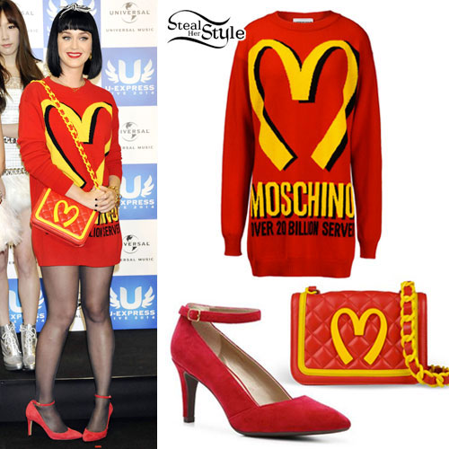 Katy Perry: Moschino McDonalds Sweater Dress