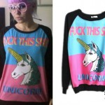 Kerli: Fuck This Shit Unicorn Sweatshirt