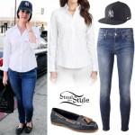 Lana Del Rey: White Shirt, Skinny Jeans