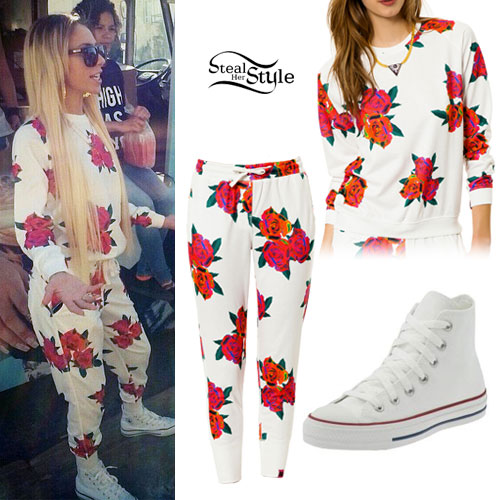 Lil Debbie: Floral Sweatshirt & Sweatpants