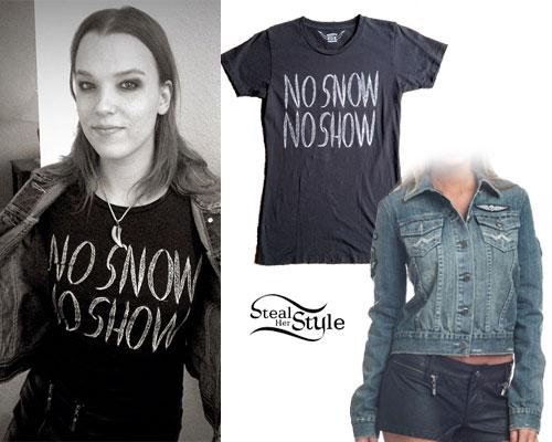 Lzzy Hale: No Snow Tee, Denim Jacket
