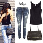 Madison Beer: Zipper Bag, Distressed Jeans
