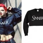 Nia Lovelis: Sinner Crop Sweatshirt