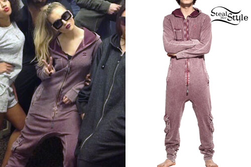 Perrie Edwards: Faded Purple Onesie