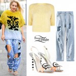 Rita Ora: Sequin Jeans, 'Sweet Talk' Sandals
