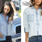 Selena Gomez: Light Denim Shirt