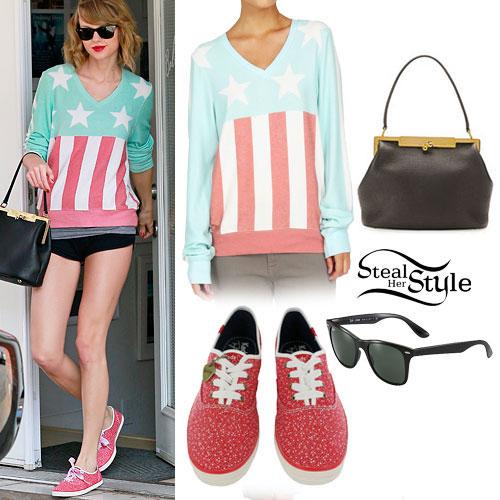 Taylor Swift: Flag Sweatshirt, Printed Sneakers