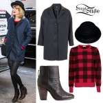 Taylor Swift: Boyfriend Coat, Brown Boots