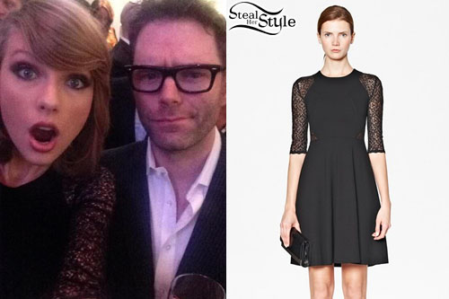 Taylor Swift: Black Lace Raglan Dress
