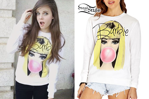 Tiffany Alvord: Barbie Bubblegum Sweatshirt