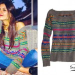 Victoria Justice: Rainbow Fair Isle Sweater